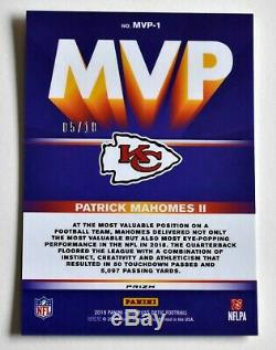 /10 Patrick Mahomes Gold Prizm Ssp 2019 Optic Mvp Super Bowl LIV Chiefs
