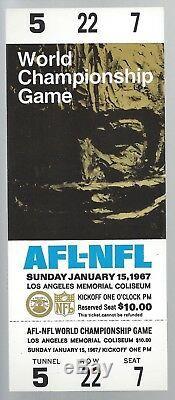 1967 NFL SUPER BOWL I FULL PROOF FOOTBALL TICKET CHIEFS vs GREEN BAY PACKERS