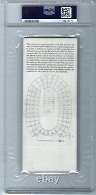 1967 Super Bowl 1 Green Bay Packers Kansas City Chiefs Full Ticket PSA 5