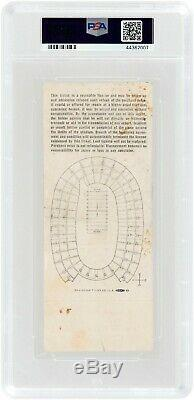 1967 Super Bowl 1 I Chiefs Packers, Gold Ticket, PSA 2