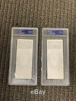 1967 Super Bowl 1 I Packers Chiefs Gold Full Tickets Psa 5 And Psa 4