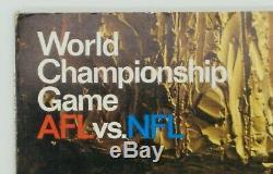 1967 Super Bowl 1 One Program Green Bay Packers Versus Kansas City Chiefs