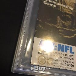 1967 Super Bowl I 1 Ticket Stub Gold Variant PSA FR 1.5 Chiefs Packers AFL NFL