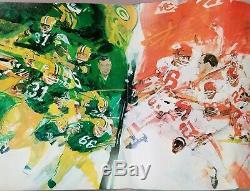 1967 Super Bowl I Program Kansas City Chiefs vs Green Bay Packers Original