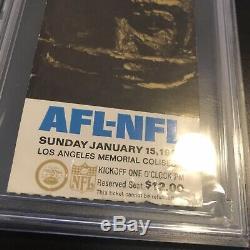 1967 Super Bowl I Ticket Stub Gold Variant PSA FR 1.5 Chiefs Packers AFL NFL