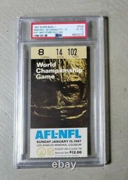 1967 Super Bowl I ticket stub PSA 4 Green Bay Packers Kansas City Chiefs SB 1