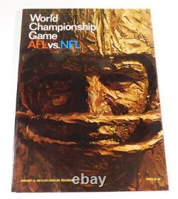 1967 World Championship 1st Super Bowl AFL vs NFL Program Packers vs Chiefs