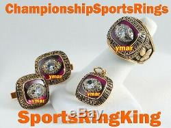 1969 Kansas City Chiefs Championship Super Bowl 10k Gold Cufflinks Ring Top