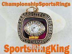 1969 Kansas City Chiefs Championship Super Bowl 14k Gold Pendant Ring Top