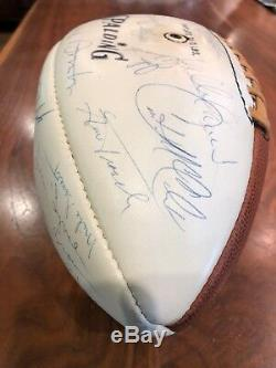 1969 Kansas City Chiefs Super Bowl Champions Team Autographed Ball JSA Z51105