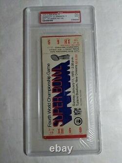 1970 Super Bowl IV CHIEFS VS VIKINGS PSA 2 Graded FULL Ticket RARE Red Var. AFL