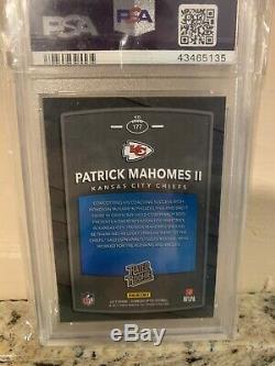 2017 Panini Optic Rated Rookie Patrick Mahomes PSA 10 Super Bowl MVP Chiefs
