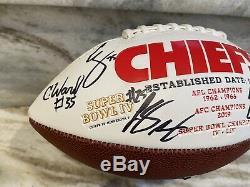 2019 2020 Kansas City Chiefs Super Bowl LIV Team Signed Football NO RESERVE