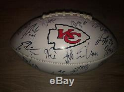 2019 Kansas City Chiefs Signed Autograph Football Mahomes Kelce Super Bowl 54
