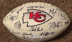 2019 Kansas City Chiefs Signed Autograph Football Mahomes Super Bowl 54 CHAMPS