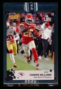 2019 Panini Instant Damien Williams Black Super Bowl LIV Chiefs Final Td #1/1