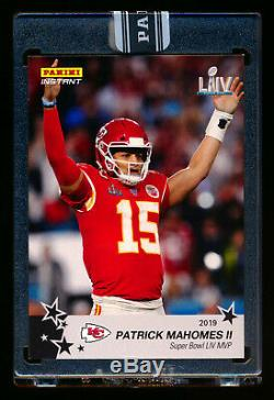 2019 Panini Instant Patrick Mahomes II Black Super Bowl LIV Chiefs Mvp #1/1
