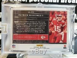 2019 Panini One Patrick Mahomes Auto Patch /35 Chiefs Super Bowl MVP BGS Gem