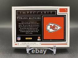 2020 Impeccable Tyrann Mathieu 1 Troy Ounce Silver Bar /20 Chiefs Super Bowl