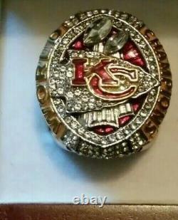 2020 Kansas City Chiefs Super Bowl LIV Championship MAHOMES MVP RING Sz11.5 &BOX