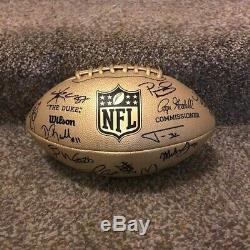 2020 Kansas City Chiefs Team Signed Rare Gold Football Super Bowl Champs