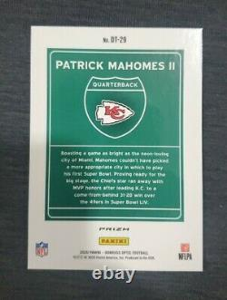 2020 NFL Optic Patrick Mahomes CASE HIT Chiefs Superbowl Edition DOWNTOWN Rare