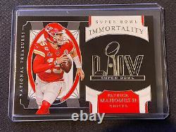 2020 National Treasures Patrick Mahomes II Super Bowl Immortality #SB-1 Chiefs