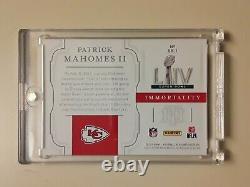 2020 National Treasures Super Bowl LIV Immortality Patrick Mahomes II KC Chiefs