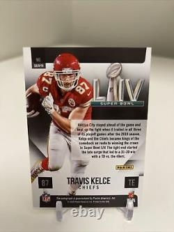 2020 Panini Chronicles Travis Kelce Silver Super Bowl Auto On Card SP Chiefs