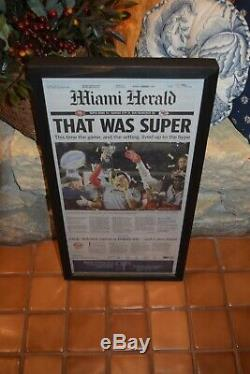 2 Set Kansas City Chiefs Framed Complete Newspapers Super Bowl 54 Mahomes