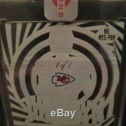 (3) Patrick Mahomes 1/1 Auto, Rookie autograph! Superbowl MVP! Chiefs! Ssp