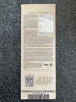 3-Super Bowl LIV 2020 Miami Ticket Stubs Chiefs 49ers Mahommes Different Colors