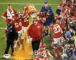 Andy Reid Signed Autographed Kansas City Chiefs 8x10 Photo Super Bowl Psa/Dna
