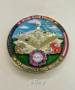 Challenge Coin Super Bowl 54 LIV Miami Dade Police Sheriff Kansas City Chiefs FL