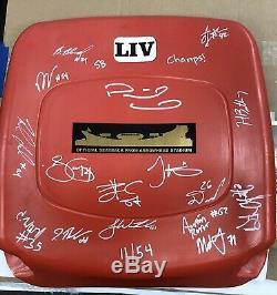 Chiefs Super Bowl LIV Team Signed Arrowhead Seat Back Mahomes