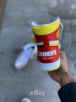 DEADSTOCK Jordan 1 Chiefs Super Bowl LIV Custom Sz 11