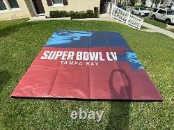 GAME USED Super Bowl LV 55 Chiefs Tampa Bay Buccaneers 145 x 142 Banner Flag