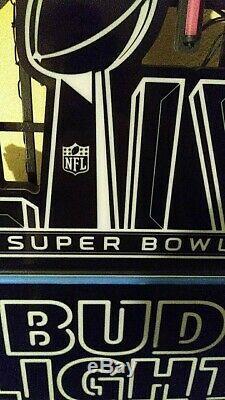 GO CHIEFS! Superbowl 54 (LIV) Bud Light Neon Sign new style flex-LED