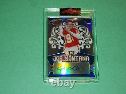 Joe Montana Auto 2020 Leaf Metal Football Card /25 San Francisco 49ers Chiefs