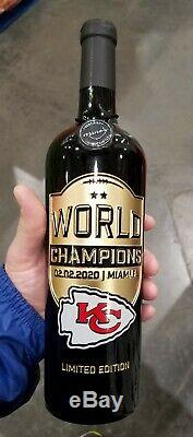 KC Chiefs world champions Superbowl Limited Edition Kansas City Chiefs etched