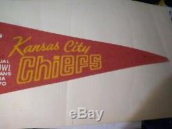 Kansas City Chiefs 1970 Super Bowl Pennant Vg 5 Pinholes Scored Nice Color Vtg
