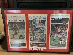 Kansas City Chiefs 2020 Super Bowl KC Star Newspaper Double Matted, Framed