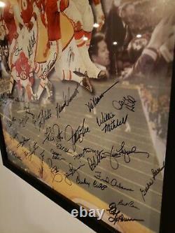 Kansas City Chiefs AUTHENTIC Signed Super Bowl Lithograph Photo Poster 1970 RARE