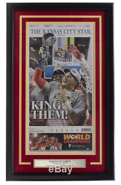 Kansas City Chiefs Framed 18x30 Feb 3 2020 Super Bowl 54 Kansas City Star Paper