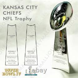 Kansas City Chiefs NFL Super Bowl Vince Lombardi Trophy Cup Replica Winner 2020