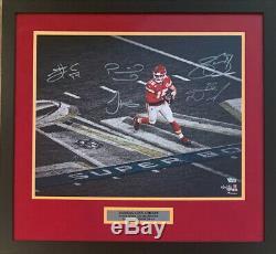 Kansas City Chiefs Signed Super Bowl 54 Framed 16x20 Photo LE 4 of 54 Fanatics