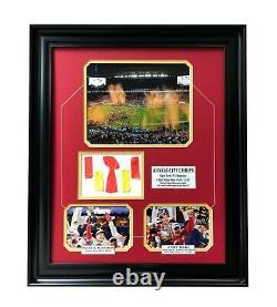 Kansas City Chiefs Super Bowl 54 LIV Game Used Confetti Framed Photo Mahomes COA