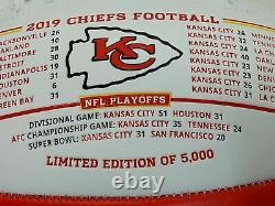 Kansas City Chiefs Super Bowl 54 LIV Limited Edition Nikco Football Pat Mahomes