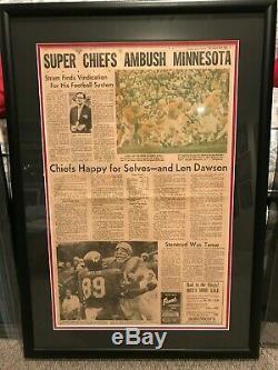 Kansas City Chiefs Super Bowl IV Kansas City Times Paper! Very Rare
