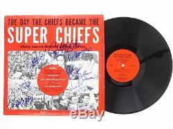 Kansas City Chiefs Super Bowl IV Signed Autographed Album LP Len Dawson 4 HOFers